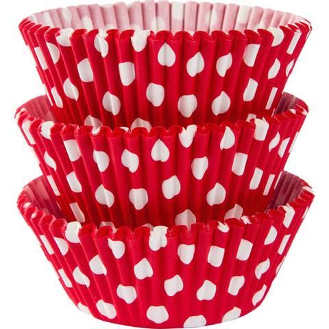 Bilde av Muffinsformer Røde Polka Dot 75 stk