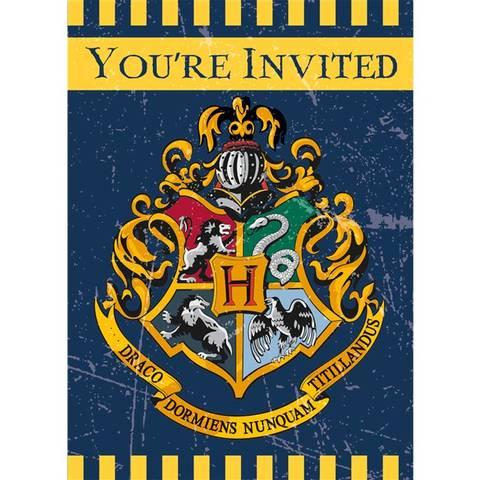 Bilde av Harry Potter Innbydelse 8stk