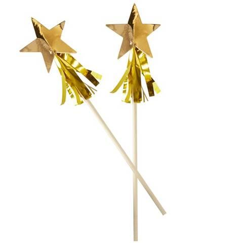 Bilde av Gull Folie Stjerne Tassel Rørepinne 8stk