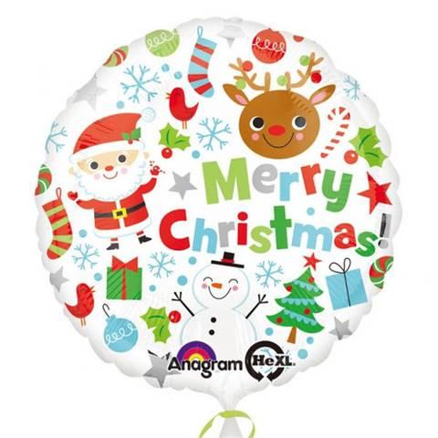 Bilde av Merry Christmas Ballong 45cm Folie