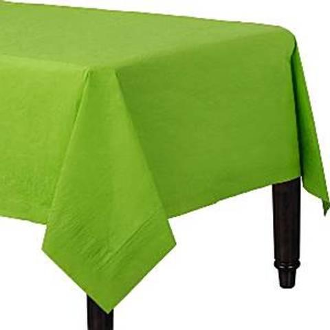 Bilde av Papirduk Lime Grønn m/Plastunderlag 1.4m x 2.8m