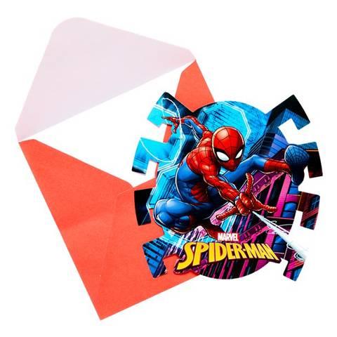 Bilde av Spiderman Team Up Party Innbydelse 6stk