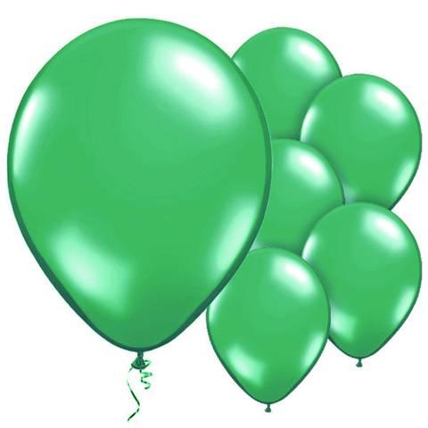 Bilde av Ballonger Grønne Metallic Lateks 28cm 10stk