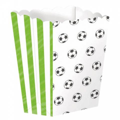 Bilde av Fotball Party Popcorn Boxes 4stk