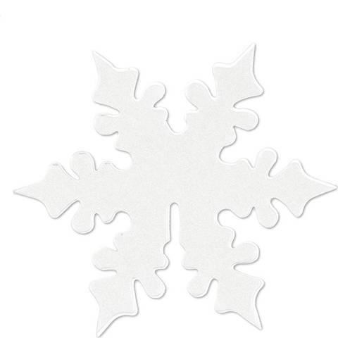 Bilde av Bordkort Hvite Snøfnugg 8cm 10stk