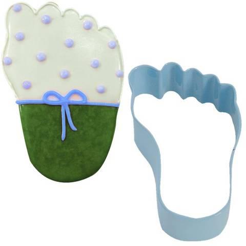 Bilde av Kakeform Blå Babyføtter 8.9cm
