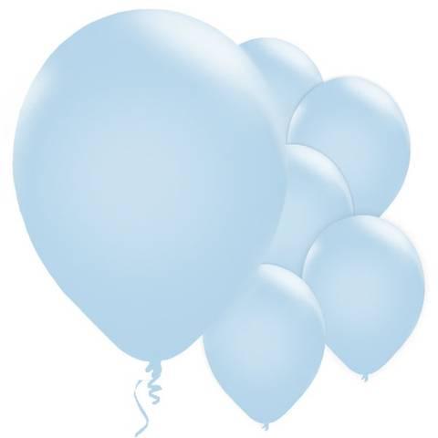 Bilde av Ballonger Pudderblå Perle Lateks 28cm 10stk