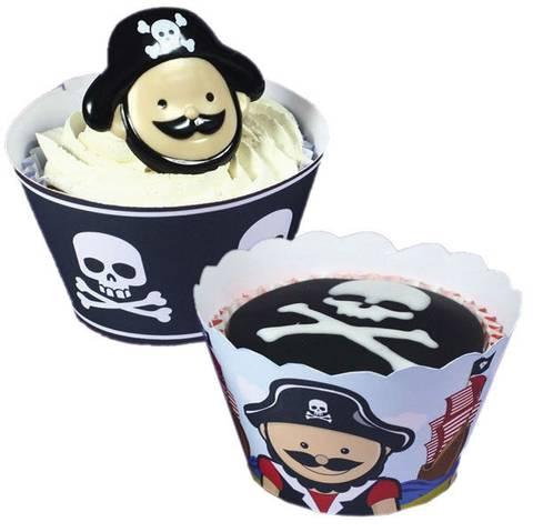 Bilde av Cupcake Holdere Pirat 12stk